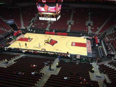 KFC Yum! Center, section: 322, row: A, seat: 16