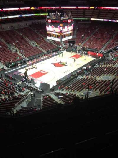 KFC Yum! Center, section: 312, row: F, seat: 5
