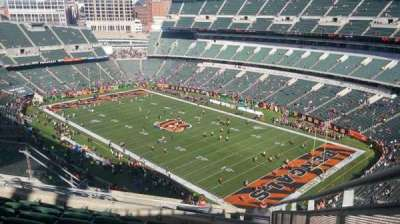 Paul Brown Stadium, section: 330, row: 19, seat: 1