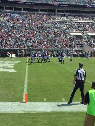EverBank Field, section: 115, row: A, seat: 1