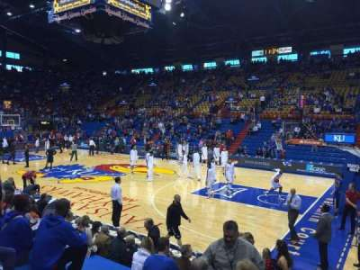 Allen Fieldhouse, section: Q, row: 10, seat: 8