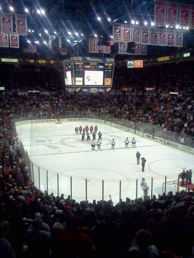 Joe Louis Arena, section: 216b, row: 1, seat: 11