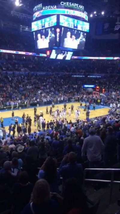 Chesapeake Energy Arena, section: 225, row: A, seat: 17