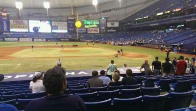 Tropicana Field, section: 113, row: u, seat: 5