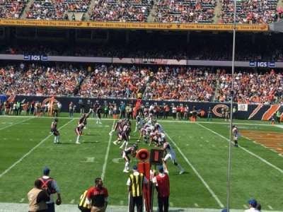 Soldier Field, section: 105, row: 10, seat: 11