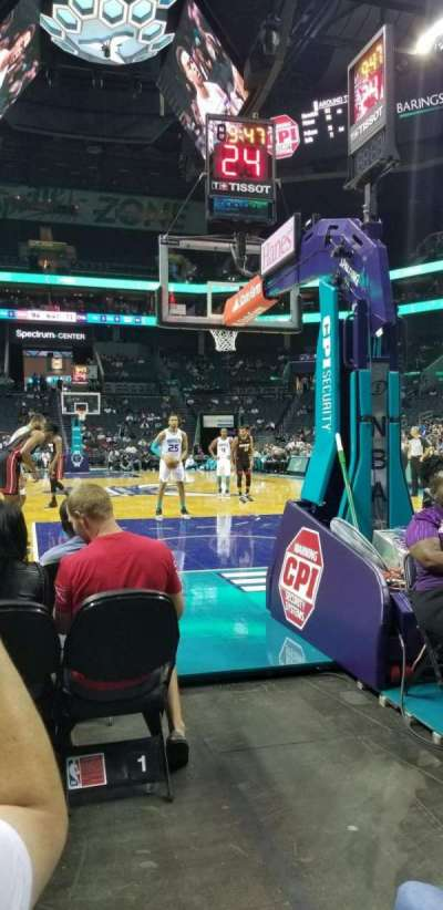 Spectrum Center, section: 110, row: A2, seat: 3