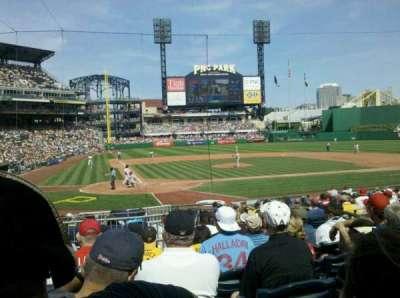 PNC Park, section: 114, row: H, seat: 8
