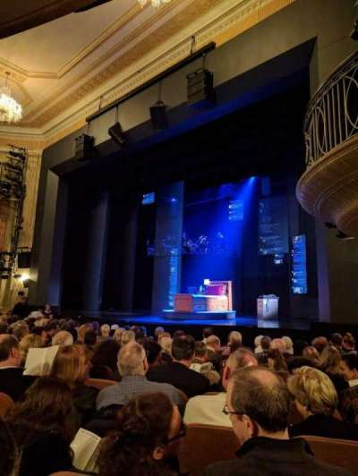 Music Box Theatre, section: ORCHO, row: L, seat: 22