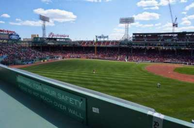 Fenway Park, section: Green Monster 4, row: 1, seat: 3-4