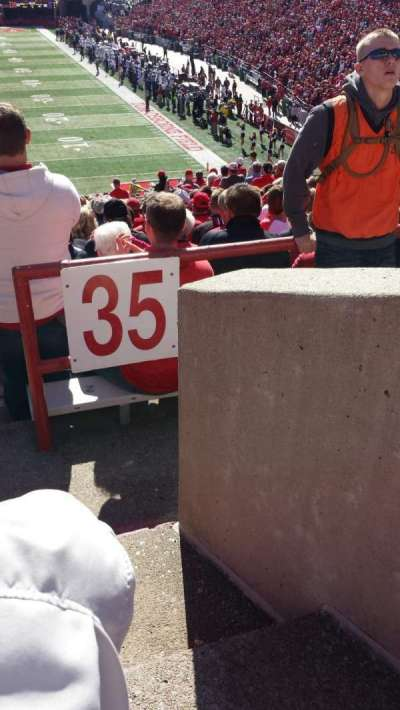 Memorial Stadium, section: 36-A, row: 44, seat: 1 and 2