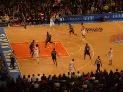 Madison Square Garden, section: 222, row: 18, seat: 18