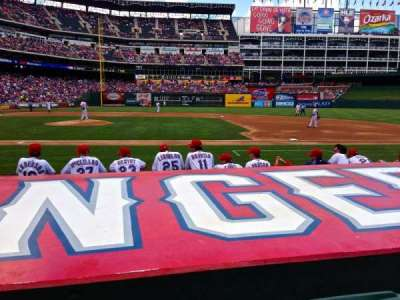 Globe Life Park in Arlington, section: 33, row: 6, seat: 4