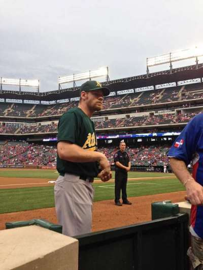 Globe Life Park in Arlington section Commissioner's Box 3rd Base