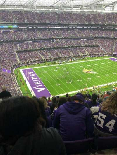 U.S. Bank Stadium, section: 317, row: 13, seat: 15