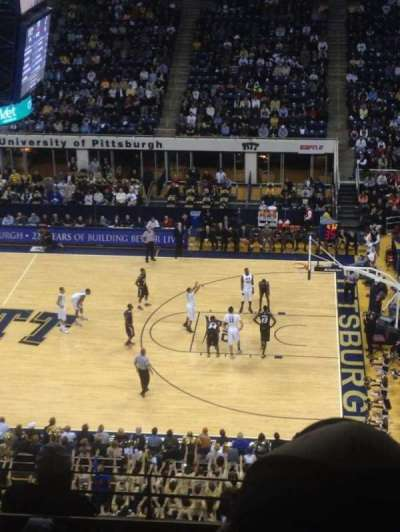 Petersen Events Center, section: 207, row: F, seat: 9