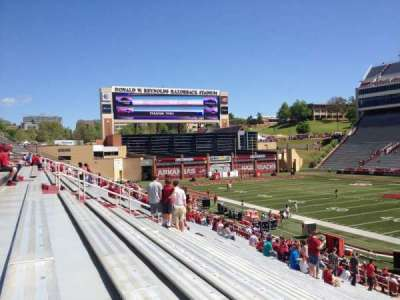 Razorback Stadium section 102