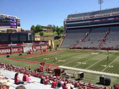 Razorback Stadium, section: 104, row: 22, seat: 20