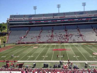 Razorback Stadium, section: 104, row: 44, seat: 20