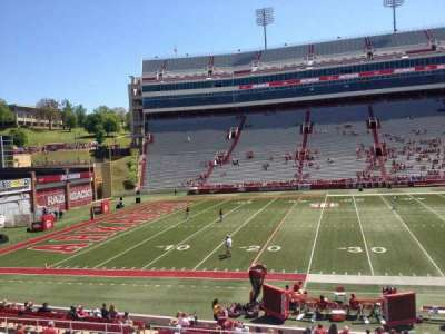 Razorback Stadium section 105