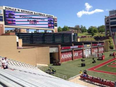 Razorback Stadium section 106