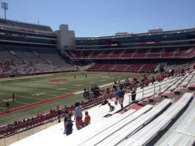 Razorback Stadium section 107