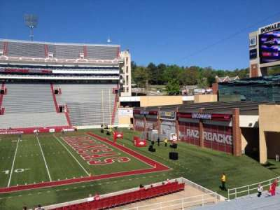 Razorback Stadium section 112