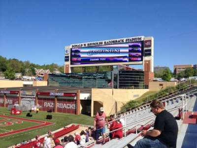 Razorback Stadium section 113