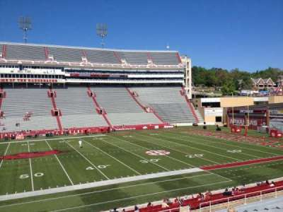 Razorback Stadium section 114