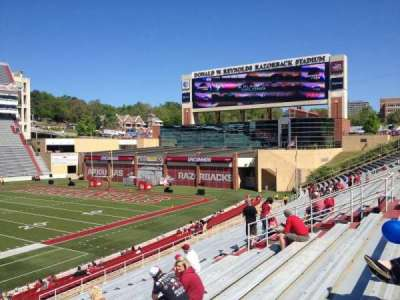 Razorback Stadium, section: 114, row: 22, seat: 20