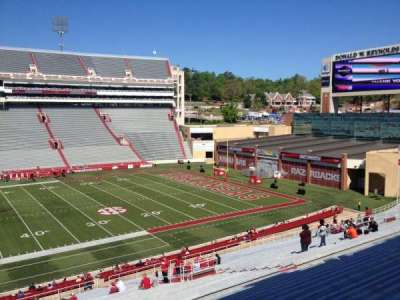 Razorback Stadium, section: 114, row: 44, seat: 20