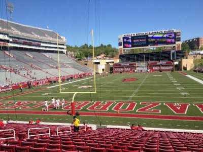 Razorback Stadium section 122