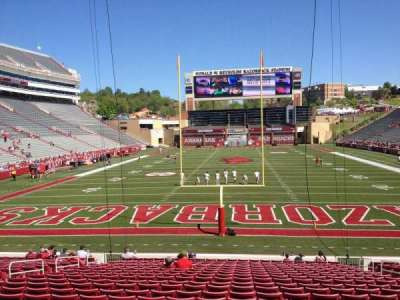 Razorback Stadium section 123