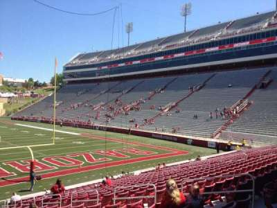 Razorback Stadium, section: 124, row: 22, seat: 10