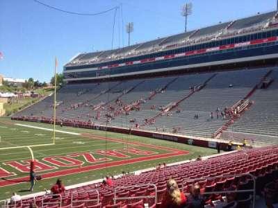 Razorback Stadium, section: 124, row: 22, seat: 10