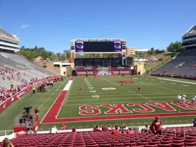 Razorback Stadium, section: 125, row: 22, seat: 10