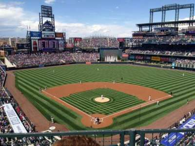 Coors Field, section: L330, row: 2, seat: 6