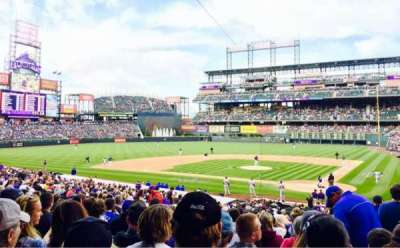 Coors Field, section: 134, row: 34, seat: 2