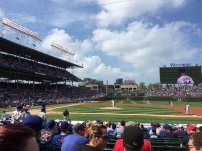 Wrigley Field, section: 129, row: 2, seat: 105
