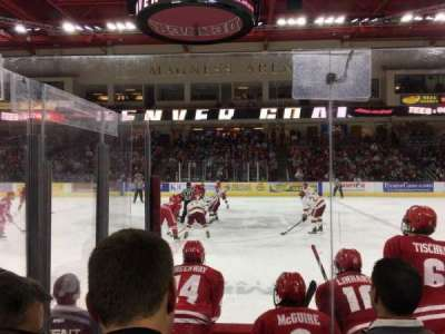Magness Arena, section: 1, row: 4, seat: 5