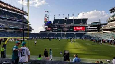 Lincoln Financial Field, section: 111, row: 6, seat: 12