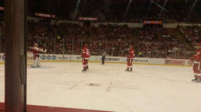 Joe Louis Arena, section: 110, row: 1, seat: 4