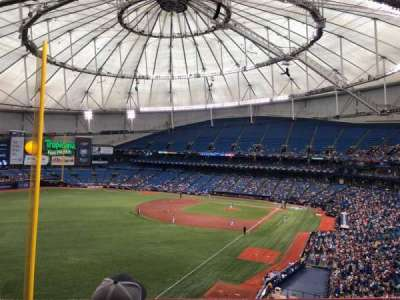 Tropicana Field, section: 341, row: C, seat: 9