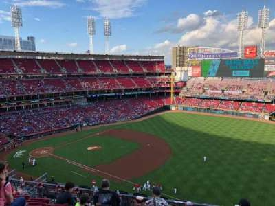 Great American Ball Park, section: 534, row: F, seat: 9