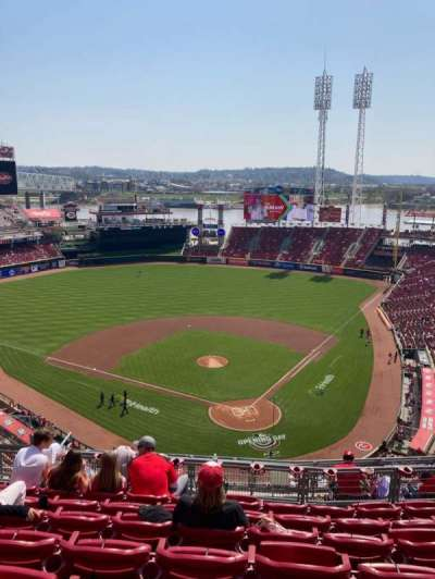 Great American Ball Park, section: 522, row: G, seat: 13