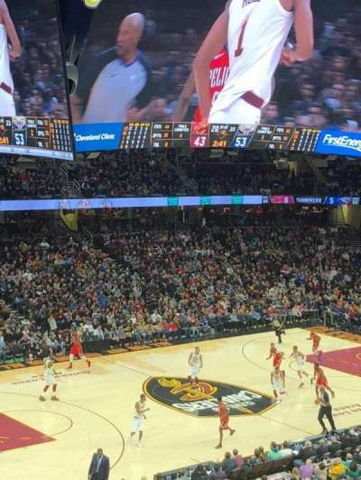 Quicken Loans Arena, section: 123, row: 25, seat: 11