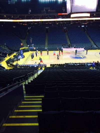 Oracle Arena, section: 101, row: 23, seat: 12