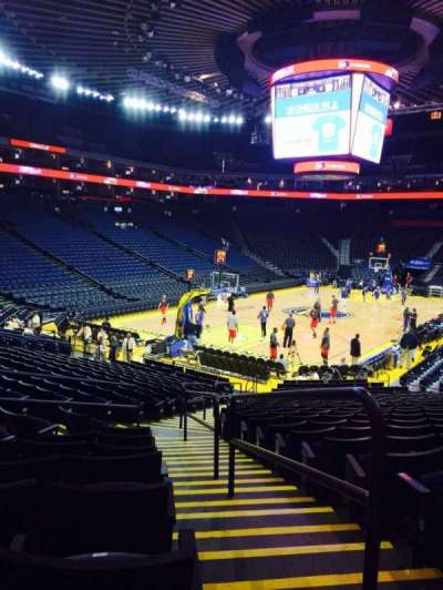 Oracle Arena, section: 106, row: 18, seat: 1