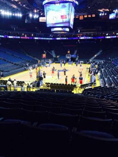Oracle Arena, section: 107, row: 16, seat: 3