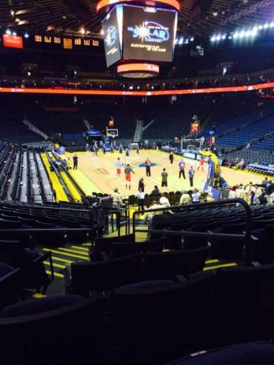 Oracle Arena, section: 109, row: 15, seat: 3