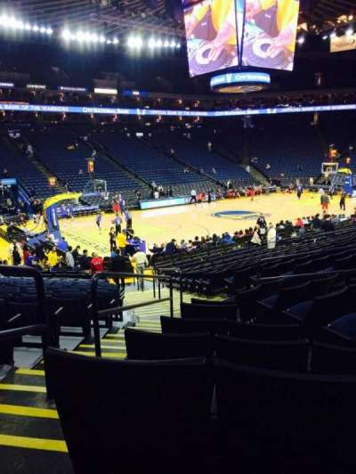 Oracle Arena, section: 118, row: 12, seat: 4